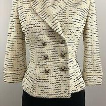 Beautiful St John Collection Knit 2pc Jacket Skirt Suit Multi Yellow 6 M S 8 Photo