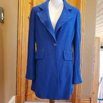 Beautiful St John Royal Blue Textured Blazer Size 8 Photo