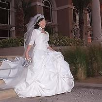 Beautiful Swarovski Crystal Beaded Wedding Dress Amazing Deal Photo