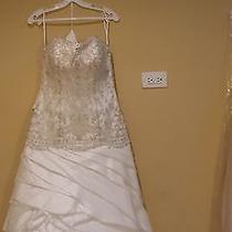 Beautiful Swarovski Crystal Detail Ivory Wedding Dress / Gown Size 12 Photo
