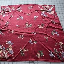 Beautiful Talbot's Silk Scarf Maroon With Multicolor Floral Photo