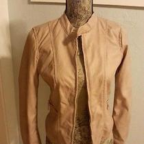 Beautiful Therapy 2 Tone Printed Blush Faux Leather Lined Jacket Size Small Nwt  Photo