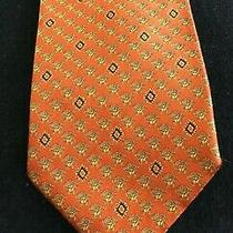 Beautiful Versace Orange Silk Woven 58