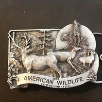 Beautiful Vintage 1981 American Wildlife Commemorative Belt Buckle Photo
