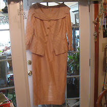 Beautiful Vintage Blush Pink Long Evening Dress W/ Jacket-Must See  Photo