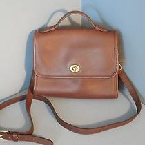 Beautiful Vintage Coach Rambler Court Handbag 9870 - Mahogany Leather Photo