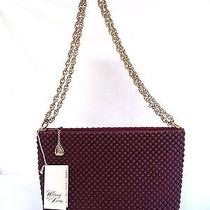 Beautiful Vintage Estate Nwt Whiting & Davis Maroon Red Mesh Handbag Purse Photo
