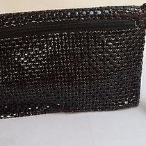 Beautiful Vintage Estate Whiting & Davis Black Mesh Clutch Purse W/ Hand Strap Photo