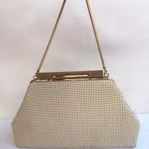 Beautiful Vintage Estate Whiting & Davis Co Cream White Mesh Handbag Purse Photo