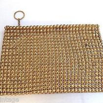 Beautiful Vintage Estate Whiting & Davis Co Gold Mesh Clutch Coin Purse Photo