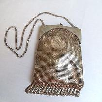 Beautiful Vintage Estate Whiting & Davis Co Silver Dangle Mesh Purse Photo