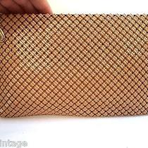 Beautiful Vintage Estate Whiting & Davis Co Tan Brown Mesh Clutch Purse Photo