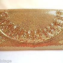 Beautiful Vintage Estate Whiting & Davis International Gold Mesh Clutch Purse Photo