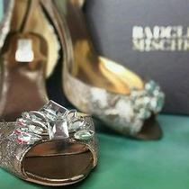 Beautiful Vintage-Style Badgley Mischka Crystal Brooch Heels Vlv  Size 10 Photo