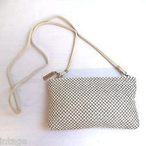 Beautiful Vintage Whiting & Davis International White Mesh & Leather Purse Photo