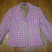 Beautiful Women's pink.brown Blazer Jacket Express Size 4 Photo