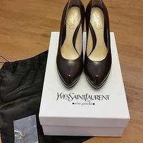 Beautiful Ysl Yves Saint Laurent Dark Chocolate Brown Platform Heels Pumps 36 6 Photo
