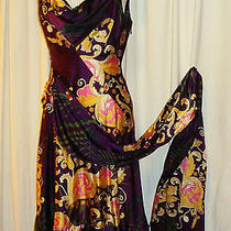 Beautiful Zac Posen Silk Blend Grecian Sash Dress Aus 10 Us 4