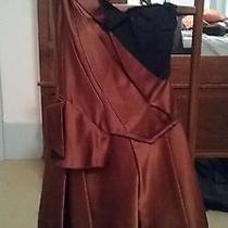 Beautiful Zac Pozen Dress Black Bustier and Silk With Modern Details Beautiful Photo