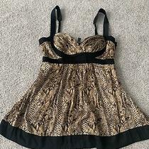 Bebe Babydoll Top Size S Snake Print Photo