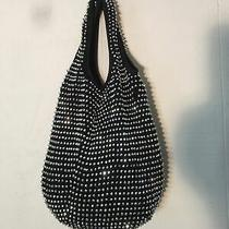 Bebe Bag Purse Silver Color Studs Black Photo