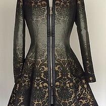 Bebe Baroque Fit-Flare Coat Photo