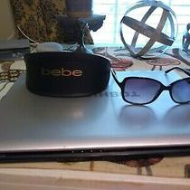 Bebe Bb7090 - Grand Sunglasses Jet With Case Nwot Photo