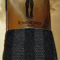 Bebe Beautiful Black Chunky Cable Knit Tights Size P/s Photo