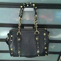 Bebe Black and Gold Handbag Photo