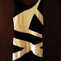 Bebe Black and White Dress M Photo