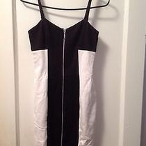 Bebe Black and White Dress Xs Photo
