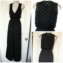 Bebe Black Ani Crochet Back Romper Jumpsuit New Nwt Xsmall Xs Photo