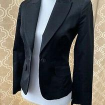 Bebe Black Blazer Jacket Size 2 Euc Photo