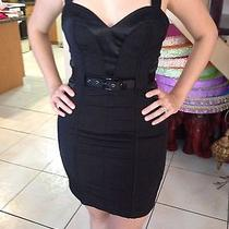 Bebe Black Corset Dress Photo