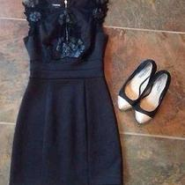 Bebe Black Crochet Dress Photo