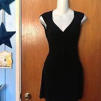 Bebe Black Deep v-Neck Dress(s) Photo