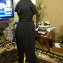 Bebe Black  Halter Designer Jumpsuit       8 Photo