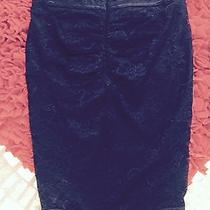 Bebe Black Lace Skirt  and Solid Skirt  With Buttons  Photo