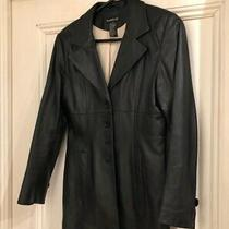 Bebe Black Leather Lambskin Coat Jacket Blazer Size Xs Photo