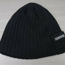 Bebe Black Pocket Women's Knit Logo Beanie Hat Snow Ski Winter One Size Photo
