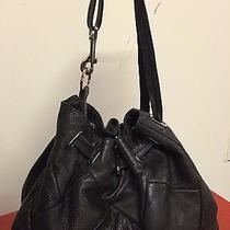 Bebe Black Purse Shoulder Bag Handbag Tote Satchel Hobo Leather Photo
