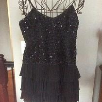 Bebe Black Sequin Dress Medium Photo