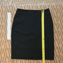 Bebe Black Skirt Side Zipper Size 2 Knee Length Pre-Owned Photo