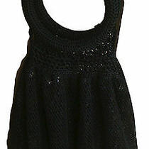 Bebe Black Sparkle Sequins Mesh Evening Bag Hobo Purse  Photo