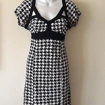 Bebe Black/white Dress - Size L Photo
