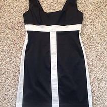 Bebe Black With White Dress New Photo