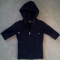 Bebe Bling Hooded Black Sweatshirt Xs Photo