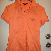 Bebe - Blouse Size Small  Orange  Flirty  Fun  Photo
