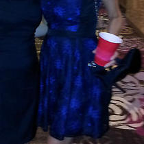 Bebe Blue Blue Black Lace Lily Corset Cocktail  Prom  Sz 8 Photo