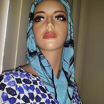 Bebe Blue Silk Scarf Photo